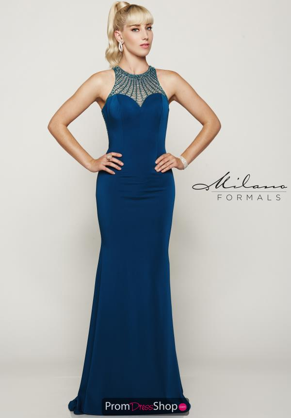 Milano Formals Long Jersey Dress E2032