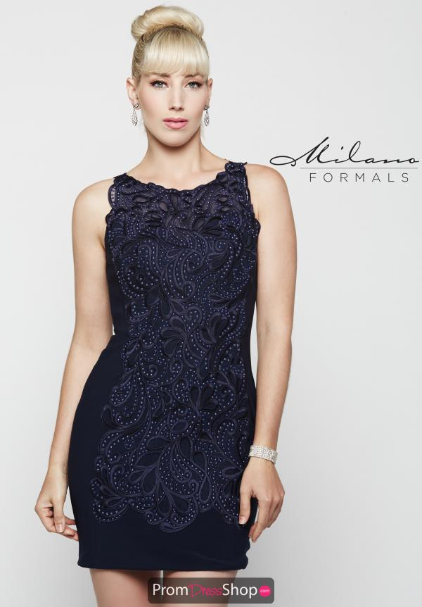 Milano Formals Blue Fitted Dress E2040