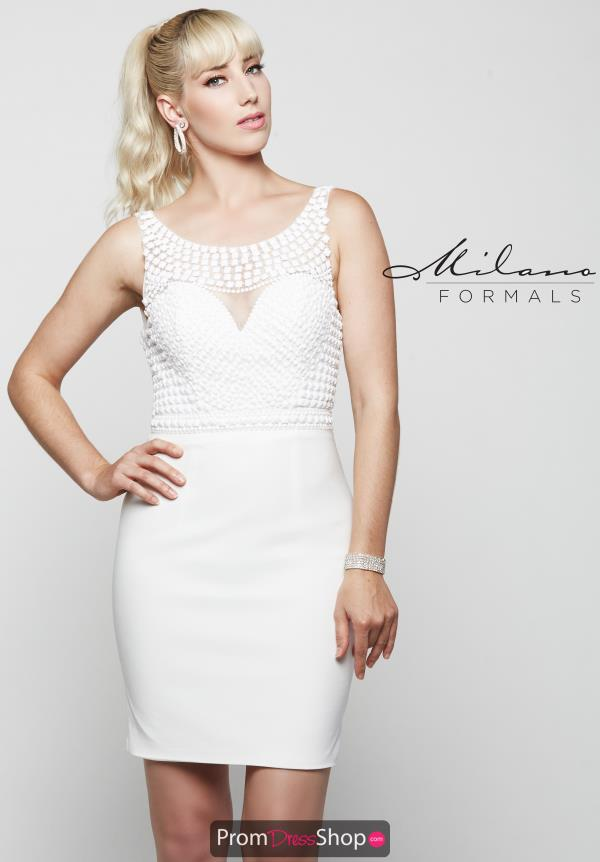 Milano Formals White Fitted Dress E2041