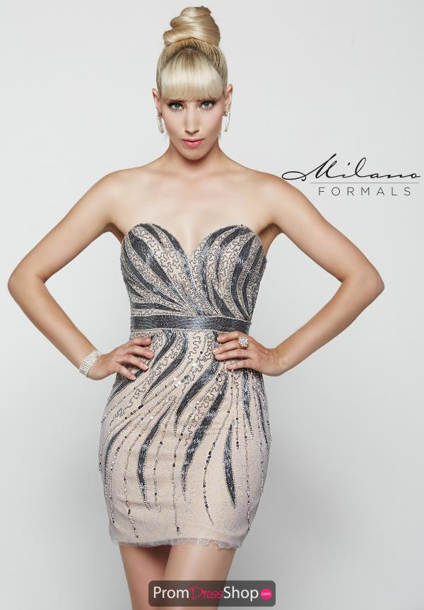 Strapless Fitted Milano Formals Dress E2049