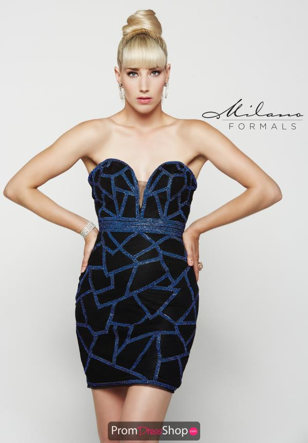 Strapless Black Milano Formals Dress E2050
