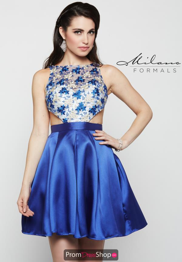 Milano Formals High Neckline Beaded Dress E2059