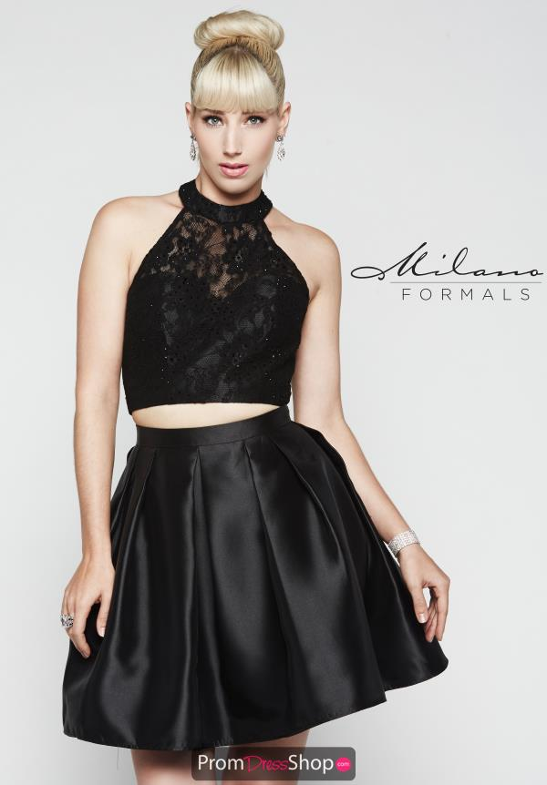 Short Black Milano Formals Dress E2061