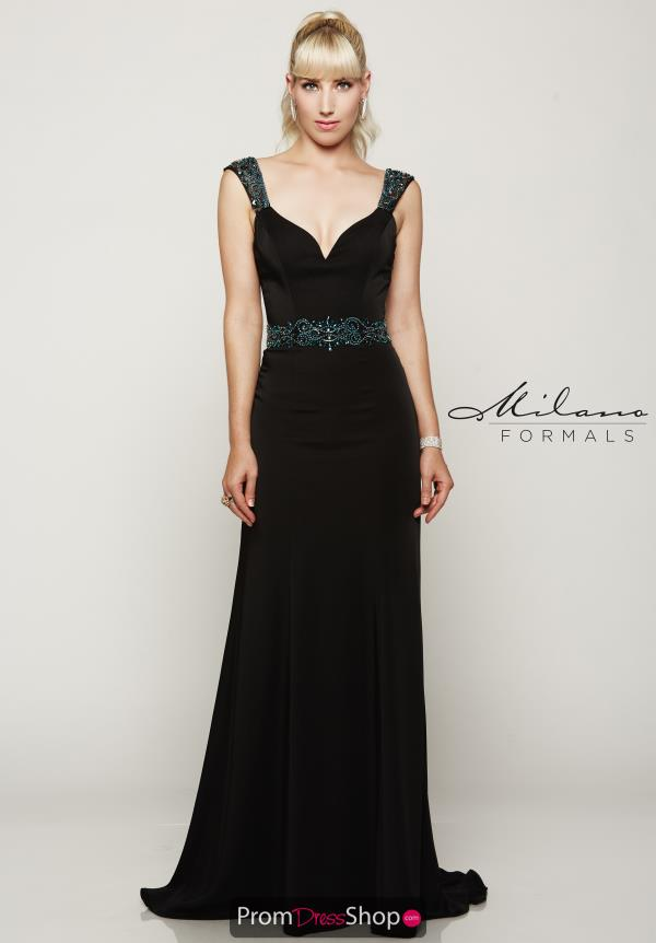 Milano Formals Long Fitted Dress E2065