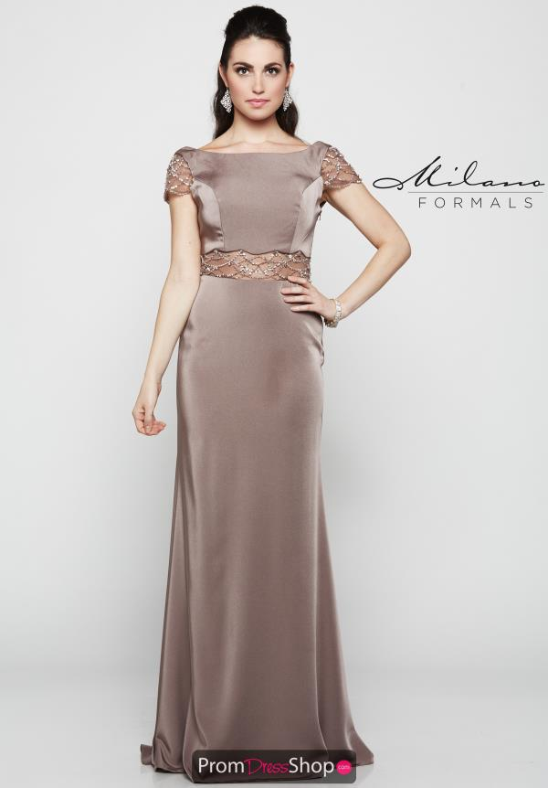 Milano Formals Sleeved Fitted Dress E2071