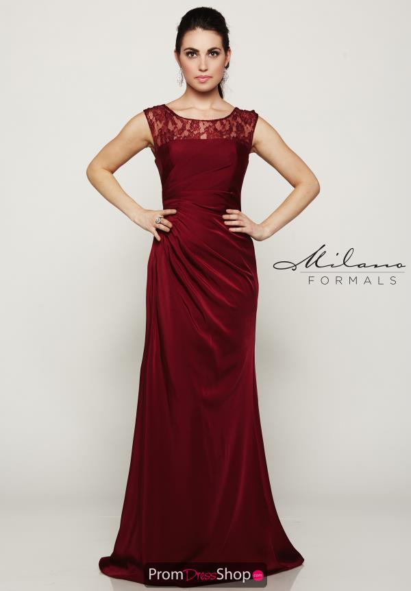 Milano Formals Long Lace Dress E2079