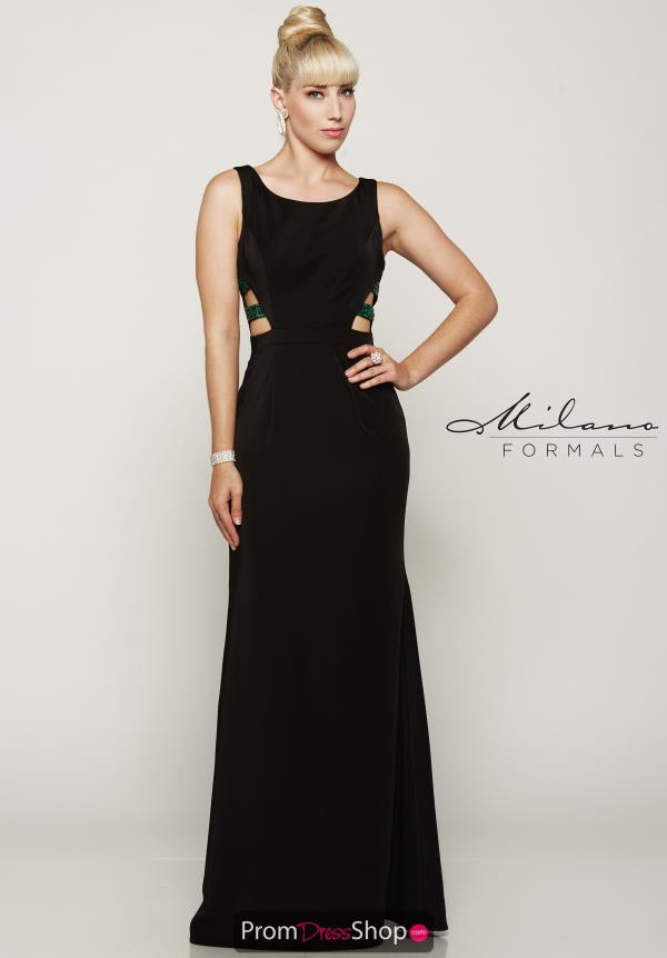 Milano Formals High Neckline Fitted Dress E2080
