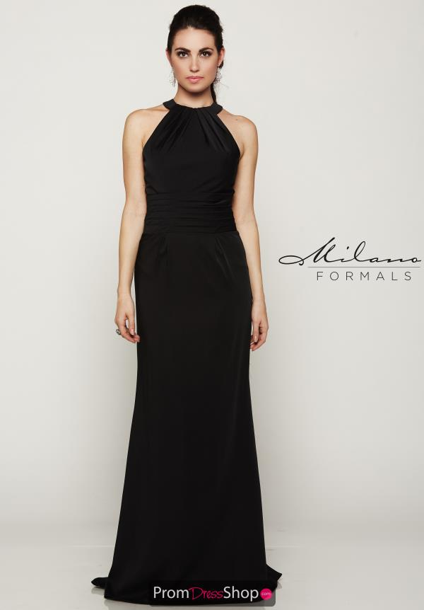 Long Black Milano Formals Dress E2082