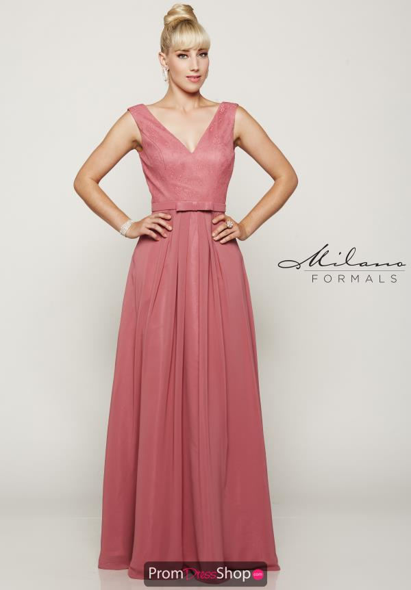 Long A Line Milano Formals Dress E2083