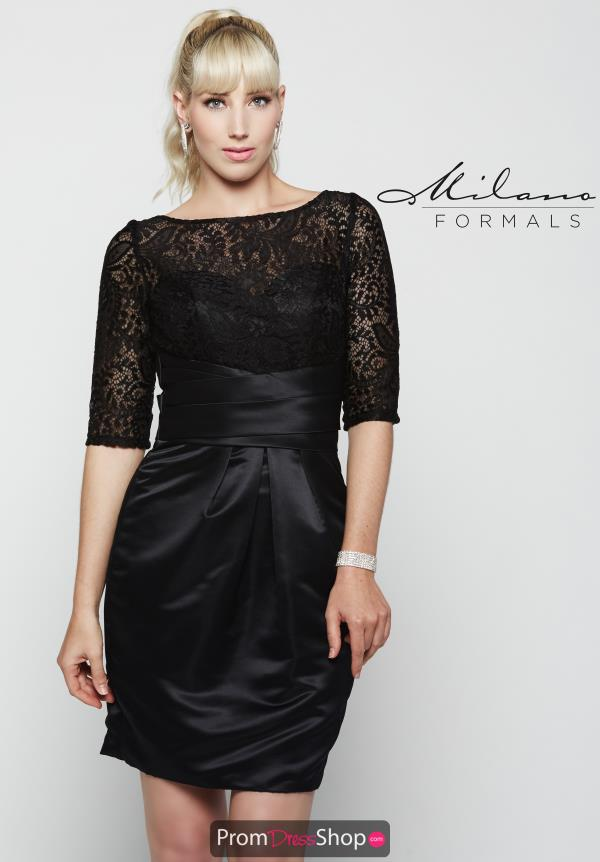 Milano Formals Sleeved Short Dress E2084