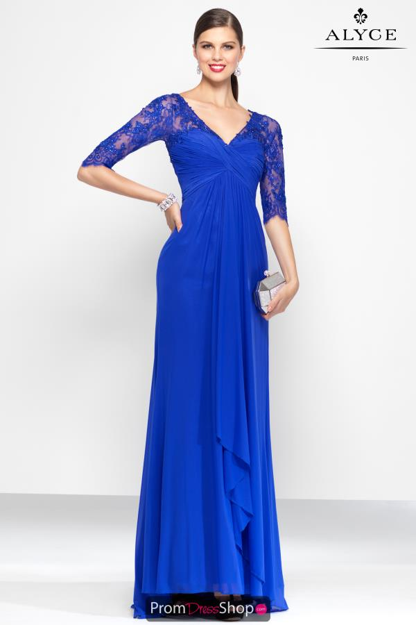 Alyce Paris V -Neckline Long Dress 5808