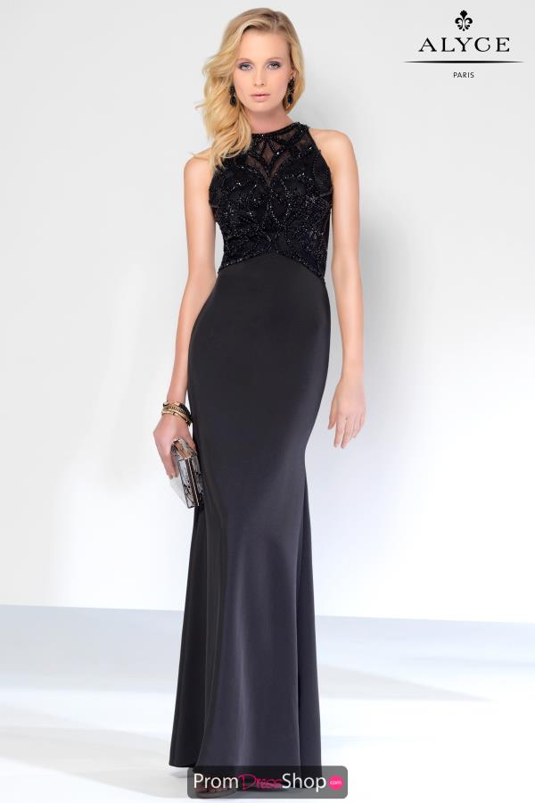 Fitted Black Alyce Paris Dress 5816
