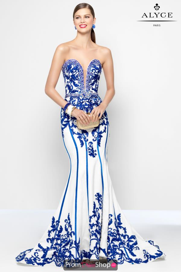 Long Beaded Alyce Paris Dress 5821