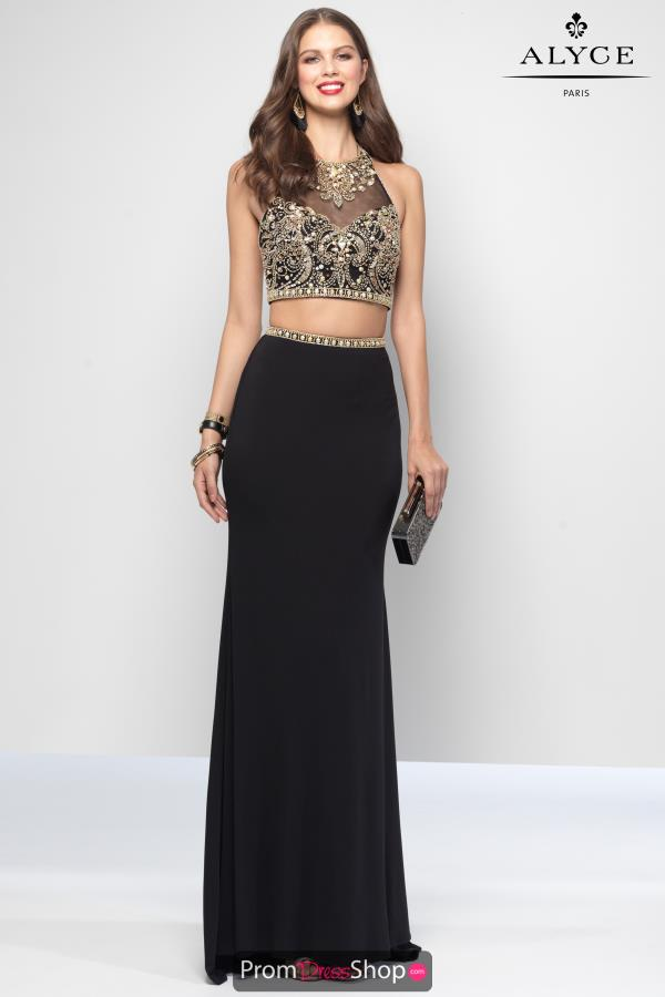 Alyce Paris Beaded Two Piece Dress 6663