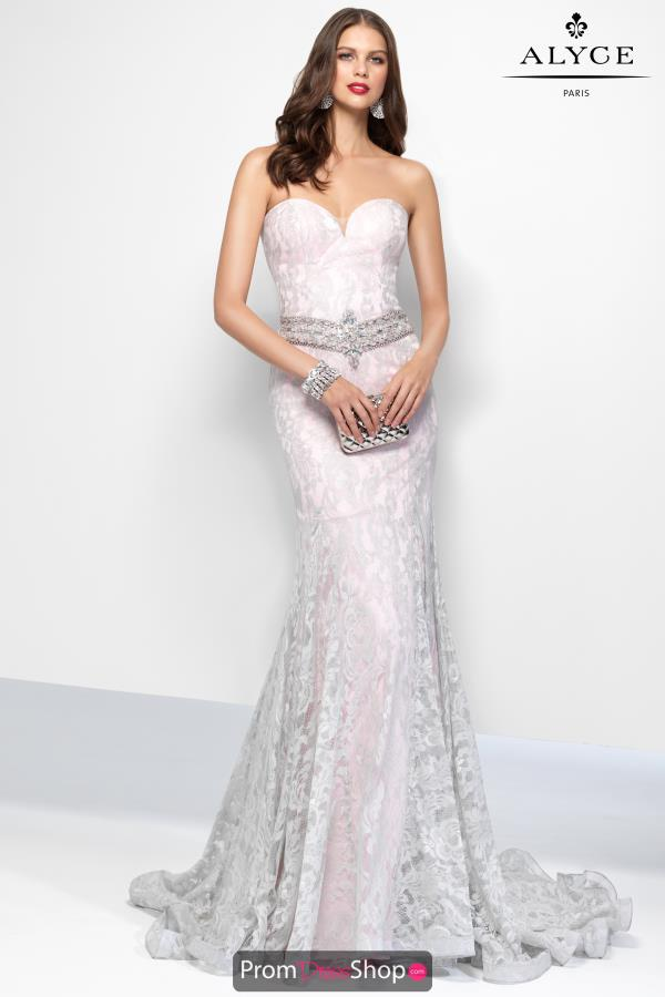 Strapless Fitted Alyce Paris Dress 6669