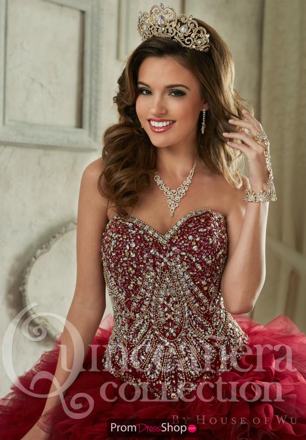 Long Beaded Tiffany Quince 26838 Dress