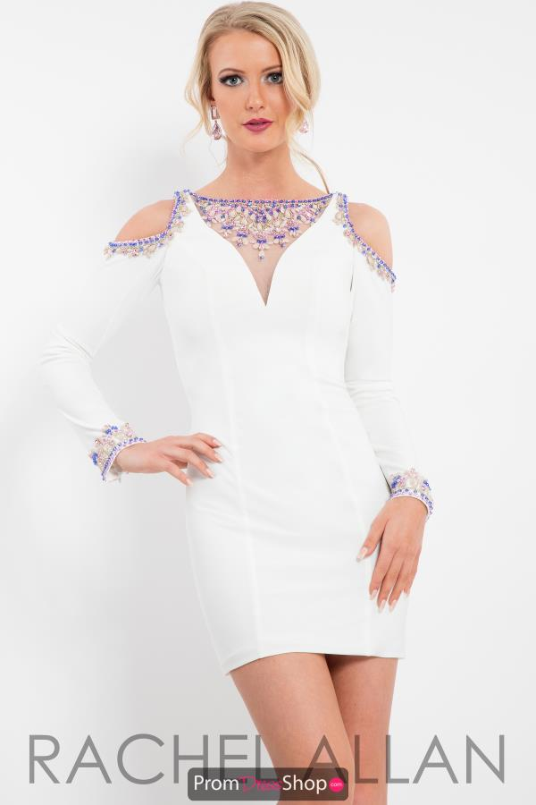 Rachel Allan Beaded Short Dress 3085