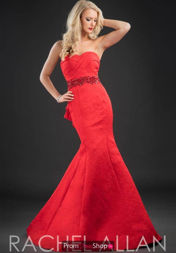 Strapless Fitted Rachel Allan Dress 8186