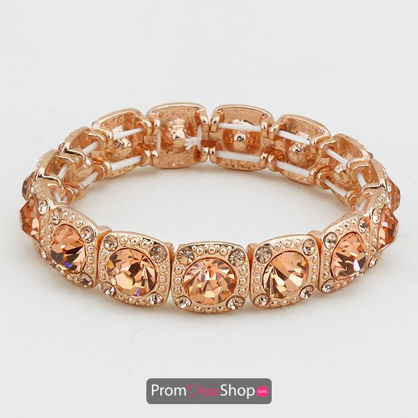 Rose Gold Rhinestone Stretchable Bracelet