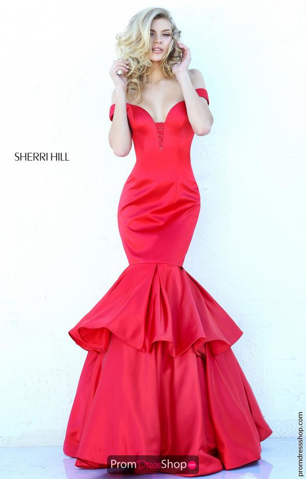 Sherri Hill Cap Sleeved Mermaid Dress 50733