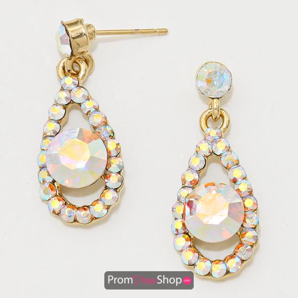 E151 Earrings in Gold and Iridescent