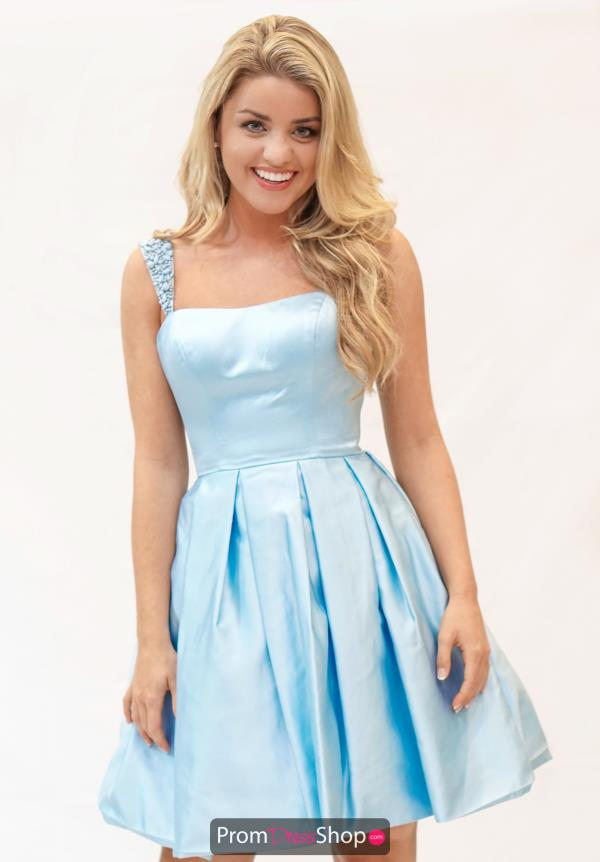 Sherri Hill Short Satin A Line Graduation Dress 50323