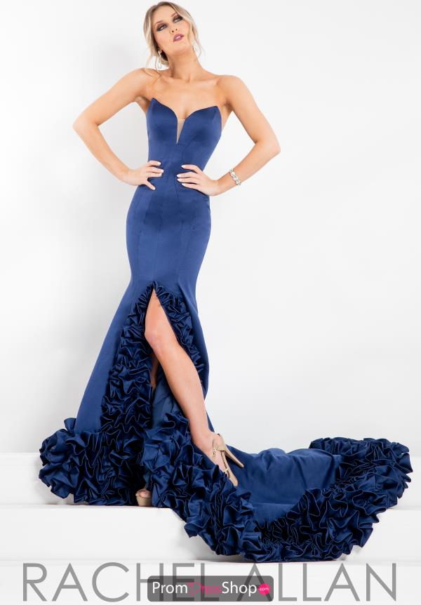 Long Satin Prima Donna Pageant Dress 5897