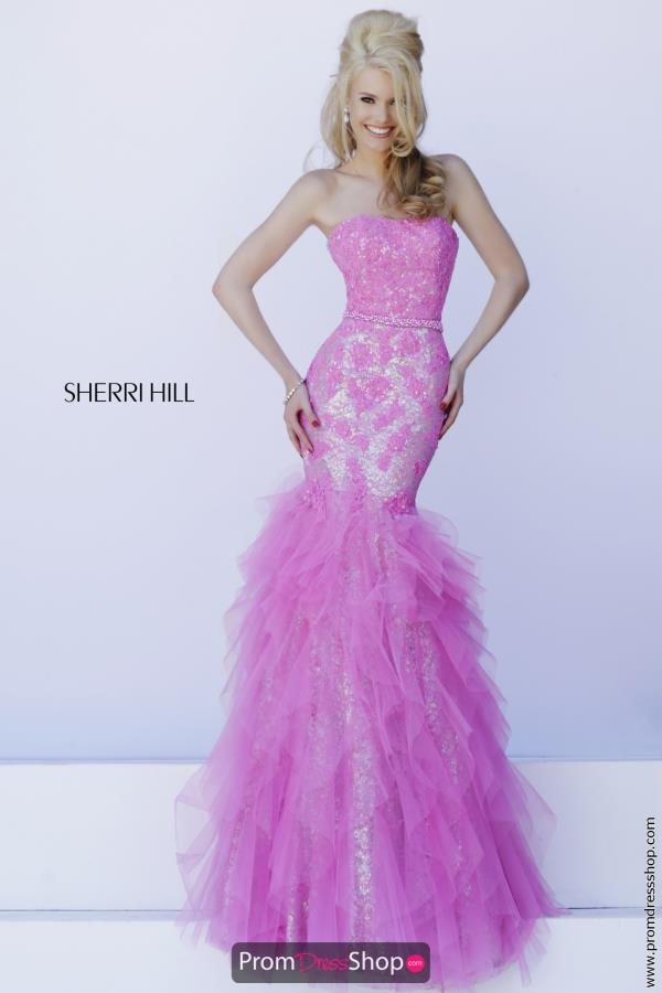 Strapless Fitted Bodice Sherri Hill Gown 11263