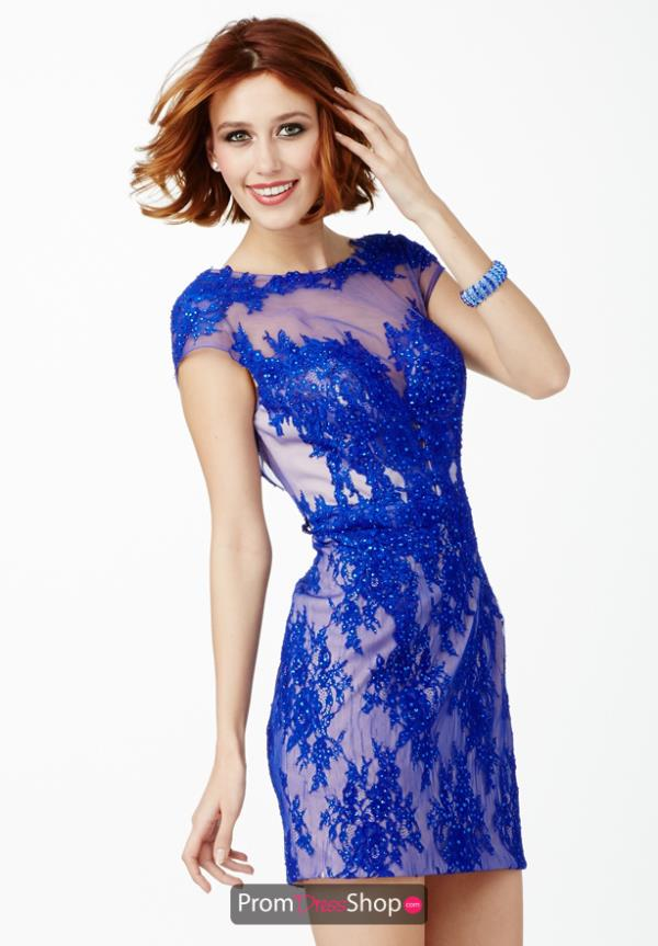 JVN by Jovani Sleeved Blue Dress JVN28400