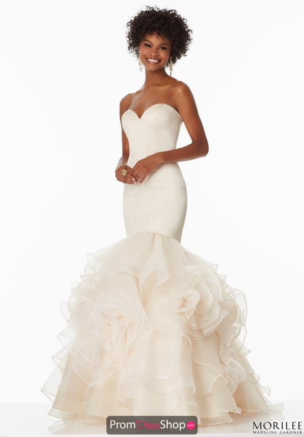Strapless Fitted Mori Lee Dress 99011
