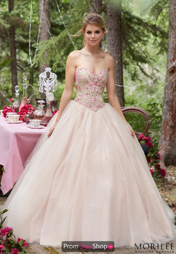 Mori Lee Ball Gown Tulle Dress 99020