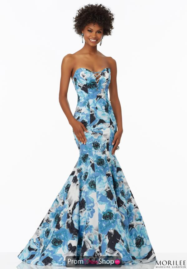 Mori Lee Fitted Print Dress 99083