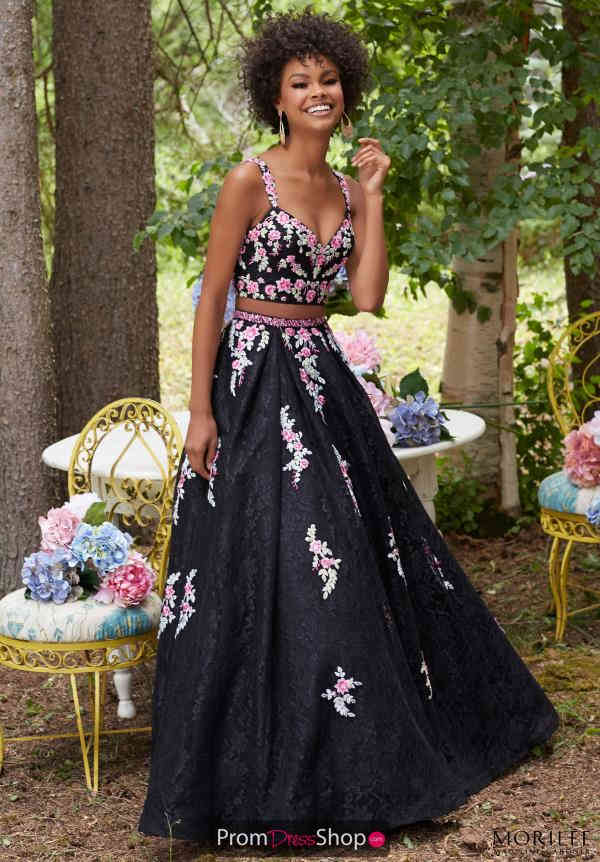 Applique Two Piece Mori Lee Dress 99098