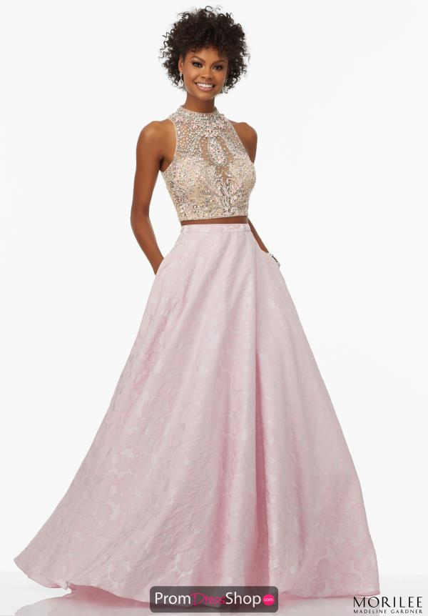Long Beaded MoriLee Dress 99116