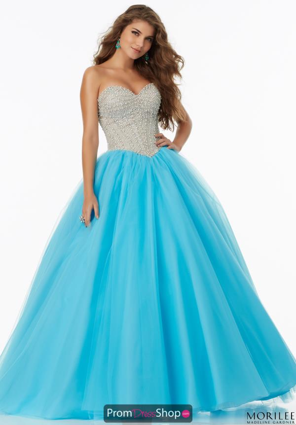 MoriLee 99146 Beaded Ball Gown
