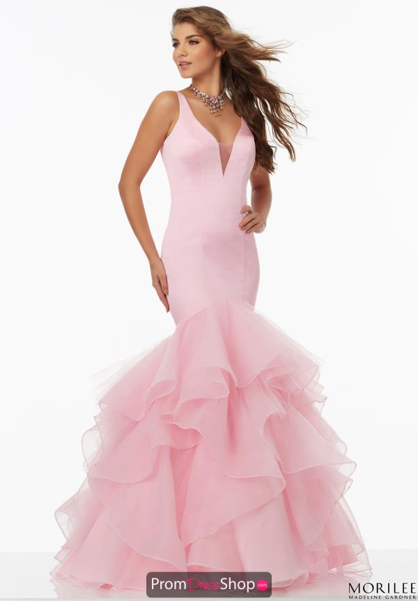 MoriLee Fitted Satin Dress 99153