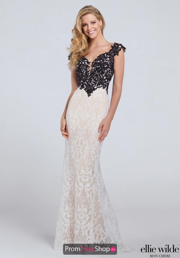 Ellie Wilde Lace Ivory Dress EW117103