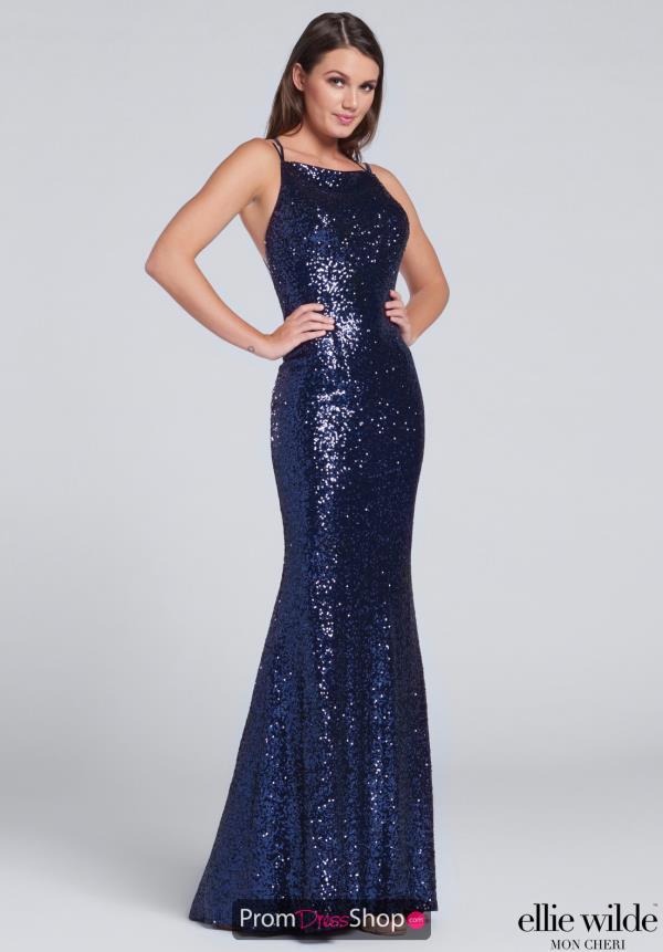 433310d5a3091 Long Fitted Ellie Wilde Dress EW117115