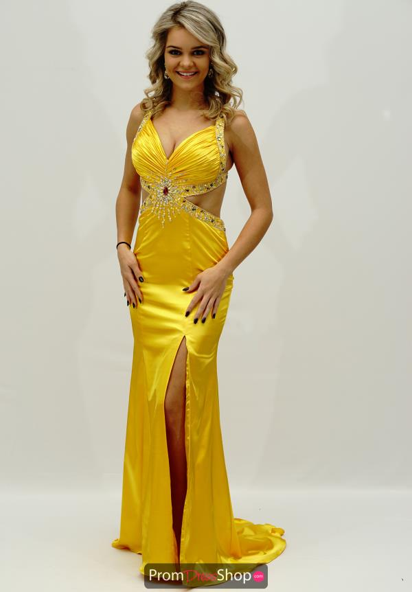 Jasz Couture Side Cut Outs Dress 4350