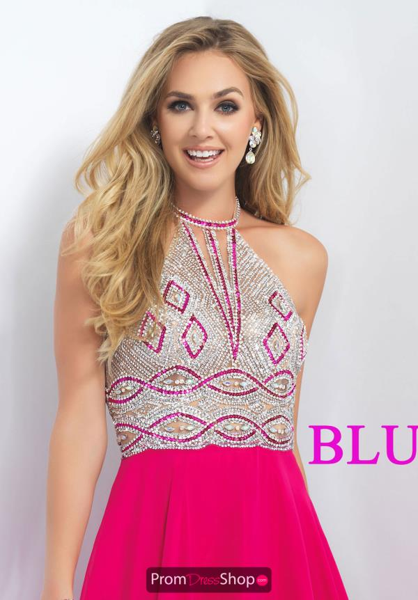 Blush Chiffon A Line Dress 11186
