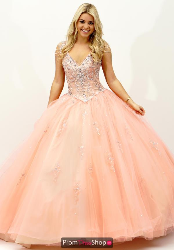 Vizcaya Quinceanera Lace Back Tulle Gown 89065