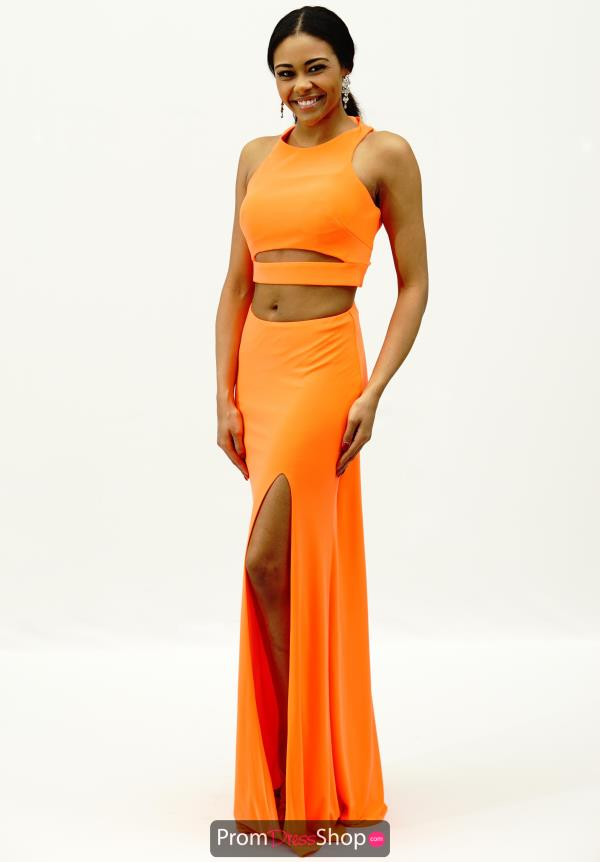 La Femme Fitted Cut Out Jersey Dress 21106