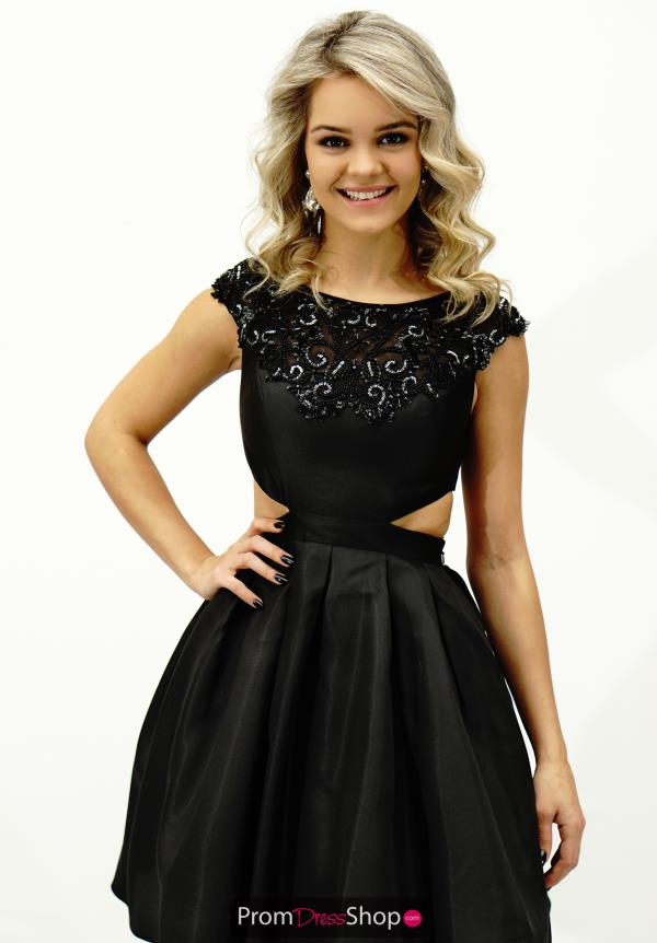 Sleeved A Line Sherri Hill Short Dress 50682