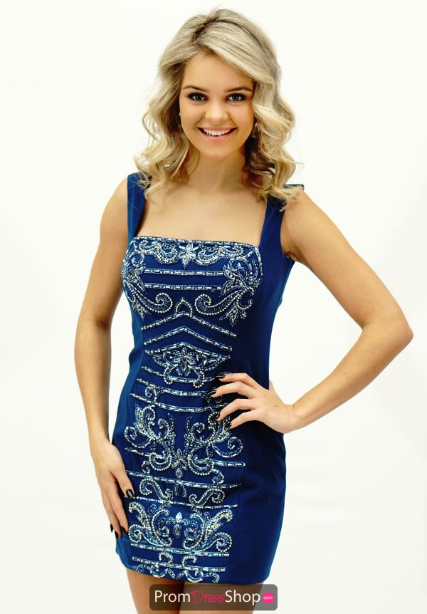 Amazing Short Intrigue by Blush Navy Dress 113