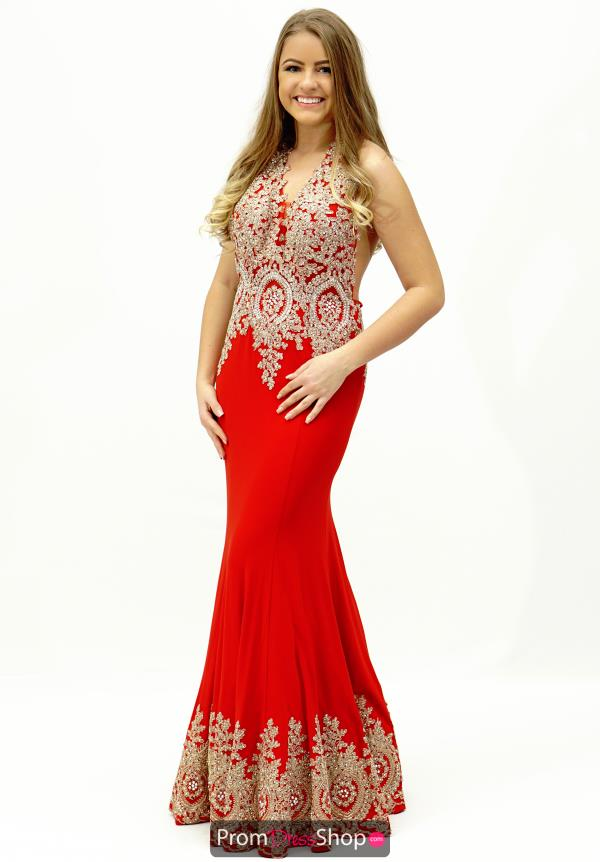 JVN by Jovani Fitted Long Navy Dress JVN31492