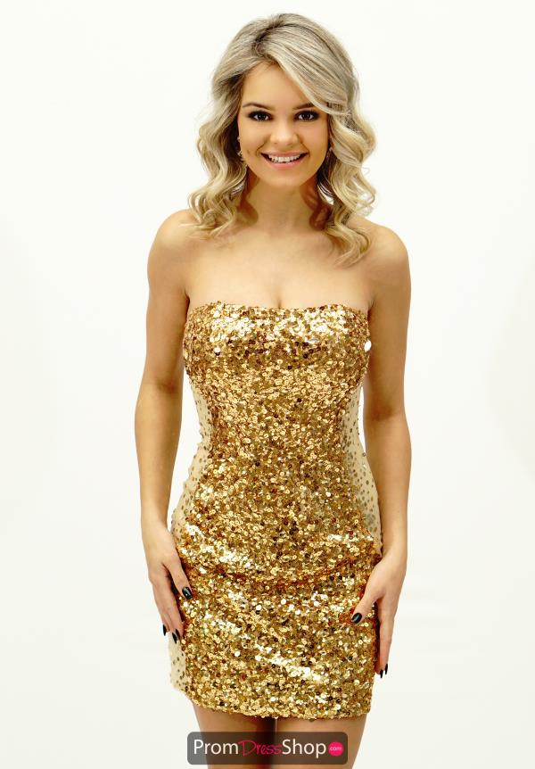 Sequins Fitted La Femme Short 17136 Dress