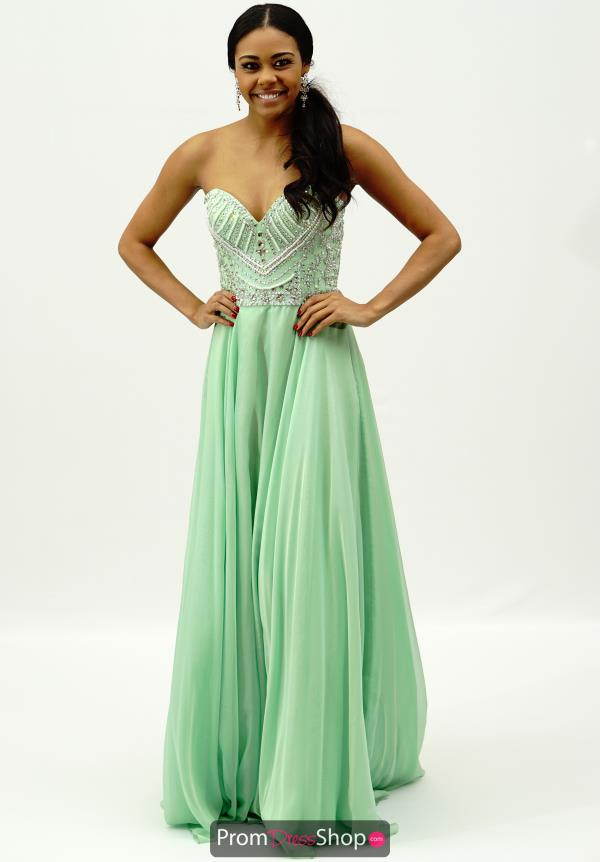 Sherri Hill Strapless Beaded Bodice Dress 1944
