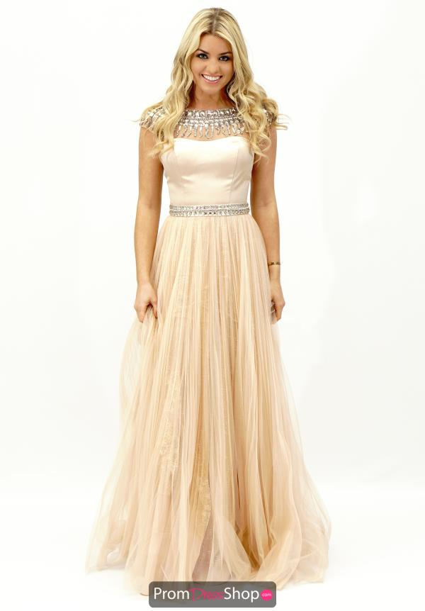 Sherri Hill Beaded Sleeves Gown 32138