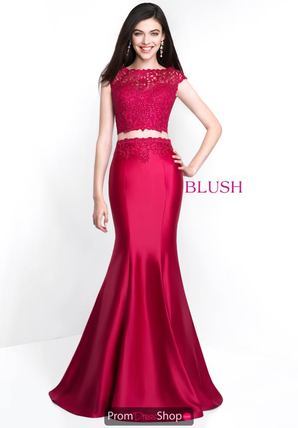Blush High Neckline Beaded Dress 11500