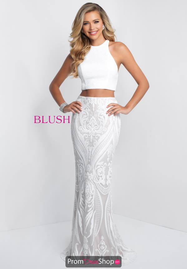 Blush Long Fitted Dress 11522